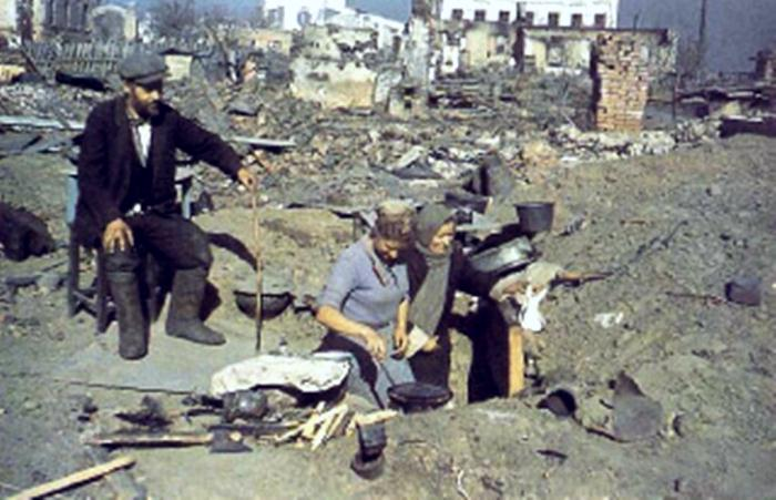 Цветные фотографии  Великой Отечественной Войны