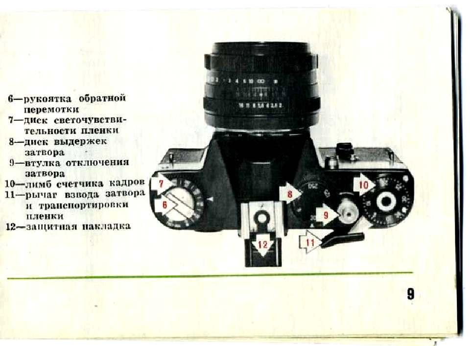 Инструкция к фотоаппарат зенит